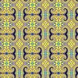 Fractal seamless pattern with a graceful spirals. Digital computer graphic - fractal seamless pattern with a graceful spirals in a bright colors for design Stock Image