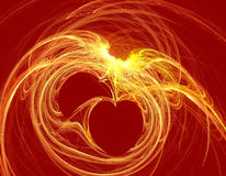 fractal serce Zdjęcie Stock