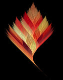 Fractal serrated leaf. In autumn colors Stock Photography