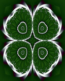 Fractal shamrock. Abstract fractal image resembling a shamrock for St. Patrick's day Stock Photos