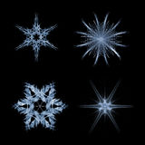 Fractal snow flakes Royalty Free Stock Photo