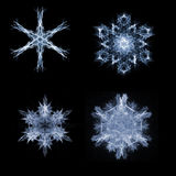Fractal snow flakes Stock Images