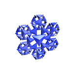 Fractal snowflake Stock Images