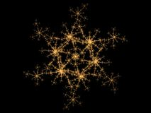 Fractal Snowflake. Abstract colored futuristic fractal on snowflake theme Stock Photos