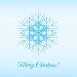 Fractal  snowflake Royalty Free Stock Image