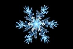 Fractal snowflake Royalty Free Stock Photography