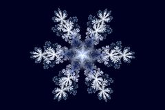 Fractal snowflake Stock Image