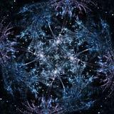 Fractal snowflake, christmas wintery design Stock Image