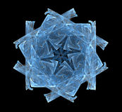 Fractal snowflake. Fractal pattern in the form of snowflakes Stock Photos