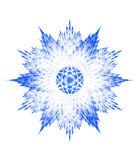 Fractal snowflake on white background Royalty Free Stock Image