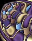 fractal spaceship Διανυσματική απεικόνιση