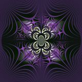 Fractal with a spider`s web. royalty free illustration