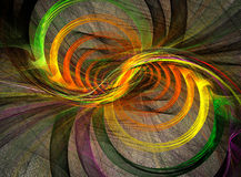 Fractal spiral abstract background Royalty Free Stock Photo