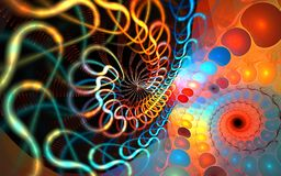 Fractal spiral background Royalty Free Stock Images