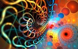 Fractal spiral background Royalty Free Stock Images