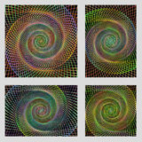 Fractal spiral page background design set Stock Photography