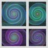 Fractal spiral page background design set Royalty Free Stock Images