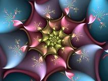Fractal spirala ilustracji