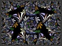 Fractal: Spirale na Czarnym tle zdjęcia stock