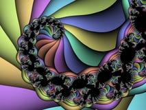 fractal spirali ilustracji