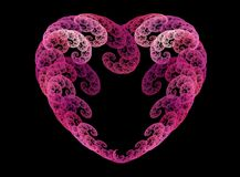 Fractal spirals heart Stock Photo