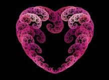 Fractal spirals heart Stock Photo