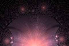Fractal with spirals and rings. Conceptual image Sun Rising Stock Images