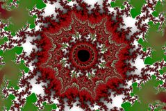 Fractal spring sun. In red and green Stock Images