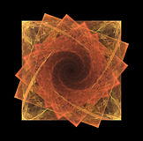 Fractal squares in spiral Royalty Free Stock Photos