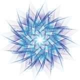 Fractal star. Vector striped blue fractal star Royalty Free Stock Images