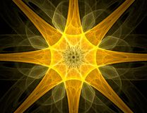 Fractal with star; abstract design, background Stock Photos