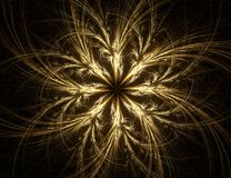 Fractal with star; abstract design, background. Set on black Stock Photography