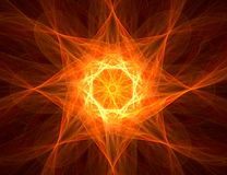 Fractal with star; abstract design, background Royalty Free Stock Photography