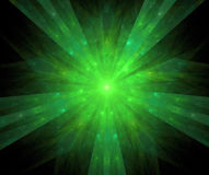 Fractal with star; abstract design, background Royalty Free Stock Photo