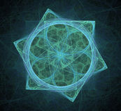 Fractal star. Fractal pattern in the form of a star Royalty Free Stock Image