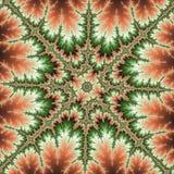 Fractal ster, effect brand in het bos royalty-vrije illustratie