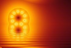 Fractal Sun, en el agua (fractal36b) Imagen de archivo libre de regalías