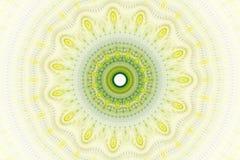 Fractal sun fantasy. Bright abstract fractal yellow sun, Fractal mandala fantasy stock illustration