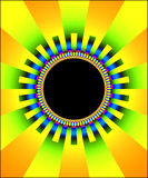 Fractal sun frame. A pattern of fractal light & color in the shape of a sun -- perfect for a frame Stock Images