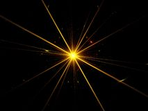 Fractal supernova explosion Royalty Free Stock Images