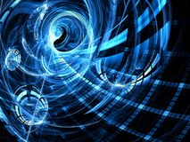 Fractal swirl - Abstract digitally generated image Royalty Free Stock Images