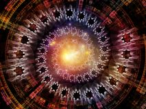 Synergies of Radial Fractal Texture Stock Images