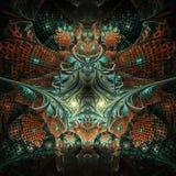 Fractal symmetric background Stock Image