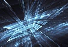 Fractal sztuka - komputerowy wizerunek, technologiczny tło Obrazy Royalty Free