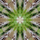 Fractal sztuki kwiatu kość słoniowa i zieleń Zdjęcia Royalty Free