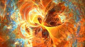 Fractal tło z abstrakt barwioną 4D galaktyką Wysokość Wyszczególniająca zbiory wideo