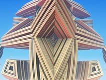 Fractal tło, abstrakcjonistyczna 3D ilustracja Wzór, ulotka, sztandar, graficzny projekt Obraz Stock