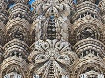 Fractal tło, abstrakcjonistyczna 3D ilustracja Wzór, ulotka, sztandar, graficzny projekt Obrazy Stock