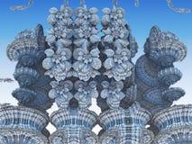 Fractal tło, abstrakcjonistyczna 3D ilustracja Wzór, ulotka, sztandar, graficzny projekt Fotografia Stock