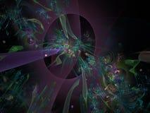 Fractal tapety stylu tajemnicy dekoraci połysku płomienia abstrakcjonistycznego kolorowego kreatywnie chaosu futurystyczny artist ilustracja wektor